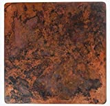 Mexican Square Copper Table Top Hand Hammered Stained Patina 36