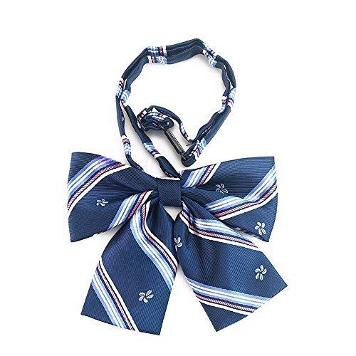 Yevison Uniform Bow Tie Student Bow Cherry Blossom Embroidery Collar Flower School Uniform Class Uniforms Accessories