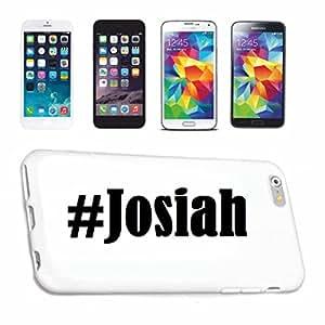 cubierta del teléfono inteligente Samsung S6 Galaxy Hashtag ... #Josiah ... en Red Social Diseño caso duro de la cubierta protectora del teléfono Cubre Smart Cover para Samsung Galaxy Smartphone … en blanco ... delgado y hermoso, ese es nuestro hardcase. El caso se fija con un clic en su teléfono inteligente