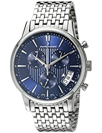 Claude Bernard Men's 01002 3M BUIN Classic Chronograph Analog Display Swiss Quartz Silver Watch