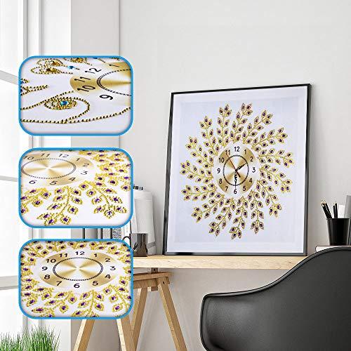 DIY Diamond Painting Wall Clock - Home Handmade Art Crafts Decor - 5D Special Diamond-Shaped Diamond Painting Kit Embroidery Cross Stitch Kits