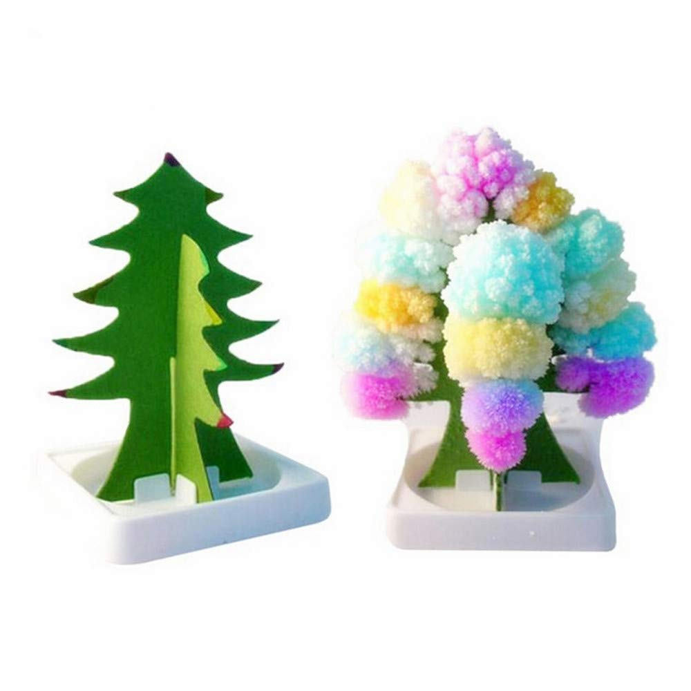 Paper Tree Flowering Toy Creative Colorful Magic Tree Paper Crafts Gift