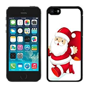 MMZ DIY PHONE CASEProvide Personalized Customized iphone 5/5s TPU Case Santa Claus Black iphone 5/5s Case 22