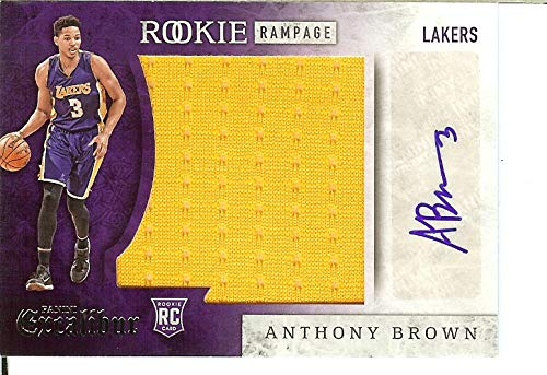 2015-16 Excalibur Rookie Rampage Jumbo Jersey Autographs #12 Anthony Brown MEM Auto Lakers from Excalibur