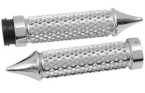 Eddie Trotta Designs Cross Cut Grips - Chrome TC769