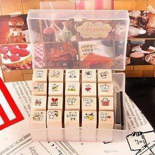 (20Pcs + Ink Pad)/Set Diy Kawaii Wooden Rubber Pig Stamp ...