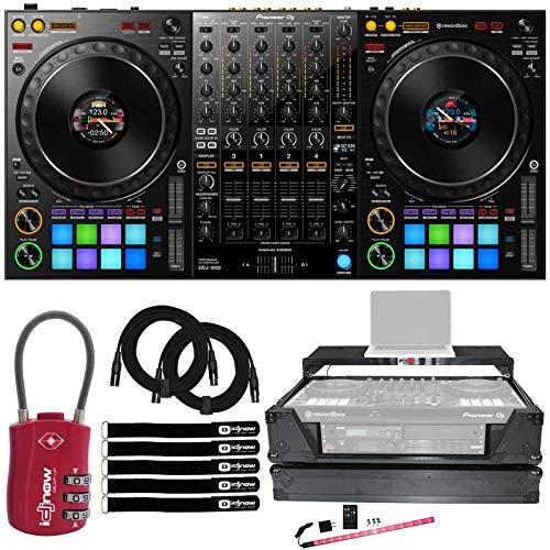 Pioneer DDJ-1000 4-Chan Club Style rekordbox DJ Pro Controller w 2U Case & Lock