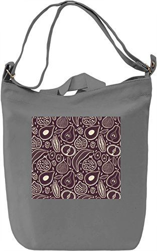Fruit Print Borsa Giornaliera Canvas Canvas Day Bag| 100% Premium Cotton Canvas| DTG Printing|