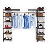 Seville Classics SHE16199B Expandable Closet Organizer, Bronze Resin