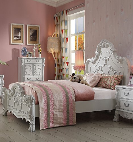 White Bedroom Antique Sets (ACME Dresden Antique White Queen Bed)