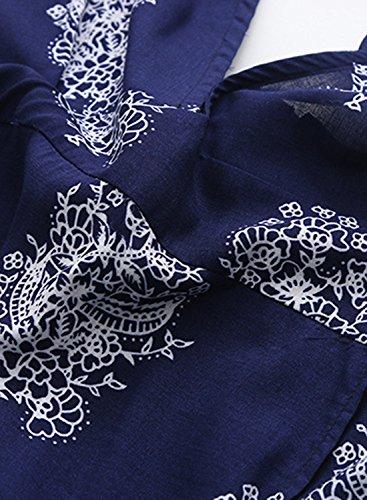 Futurino Damen Tiefer V Ausschnitt Rückenfrei Floralem Seitlichen Schlitzen Maxi Kleider