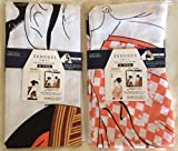Japanese Tenugui Ukiyoe Set(2pcs) 34×13inch Cotton100%