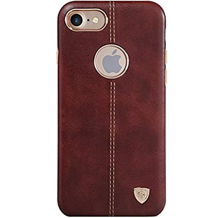 pretty nice f49fe 90df3 NILLKIN Englon Series Leather Back Cover for Apple iPhone 7 -Brown ,  Leather Cover for iPhone 7