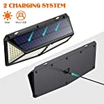 Solar Lights Outdoor, [288 LED – USB Charging] iPosible Solar Motion Sensor Security Lights with 3 Lighting Modes…
