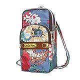 Thenlian Fashion Leather Wallet Zipper Clutch Purse Girl Printed Floral Handbag Bag (F)