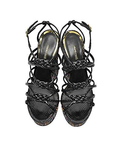 Multicolore Femme Compensées EQS417PA0036D0141 Chaussures Roberto Cavalli Cuir Cpqgq6S