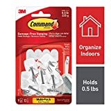 Command 17067-9ES Kitchen Utensil Hooks with Command Adhesive Strips - Small, White, Value Pack