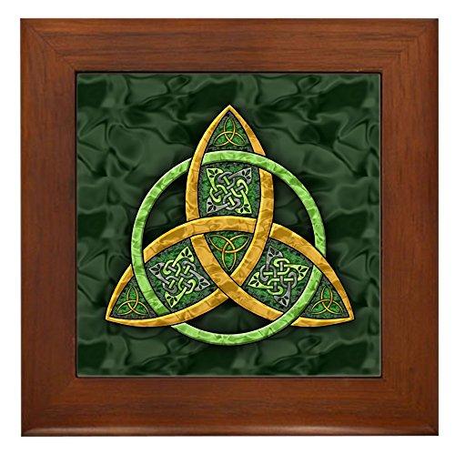 (CafePress - Celtic Trinity Knot - Framed Tile, Decorative Tile Wall Hanging )