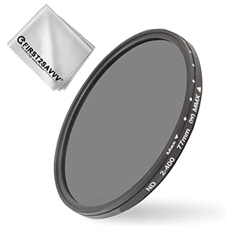 first2savvv 58 mm ND2 ND400 Fader Variable Neutral Density Adjustable Lens Ultra Slim ND Filter Optical Glass