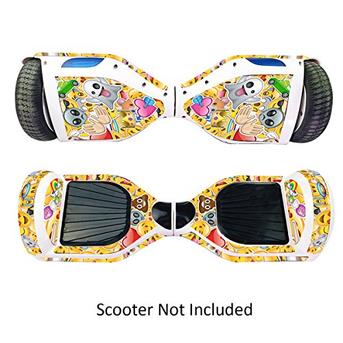 GameXcel Sticker for Hover Board - Skin for Self-Balancing Electric Scooter - Decal for Self Balance Mobility Longboard - Smart Protective Cover Vinyl Case for 2 Wheel Scooter -