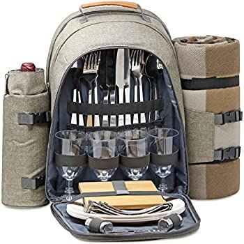 Amazon Com Plush Picnic Picnic Backpack Picnic Basket