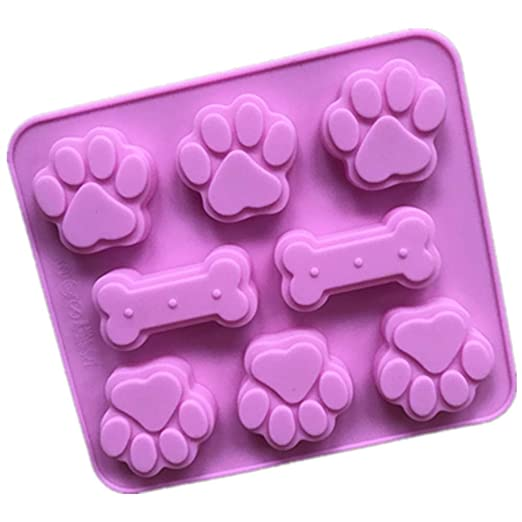 Molde de pastel de silicona hueso de perro molde de pastel de huella de perro molde