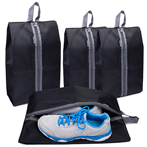 Portable Travel Shoes Storage Bag Waterproof Breathable Shoes Clothes Toiletries Makeup Organizer Shoes Tote Bag With Zipper Fine Craftsmanship Storage Boxes & Bins
