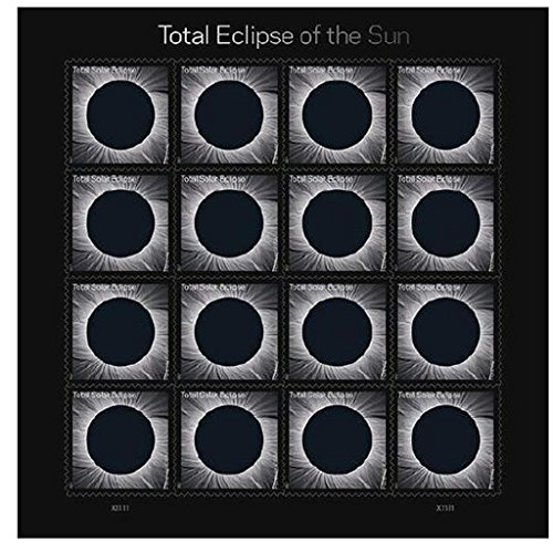 USPS Total Eclipse of the Sun Forever Stamps Sheet of 16 - New 2017 Release by USPS