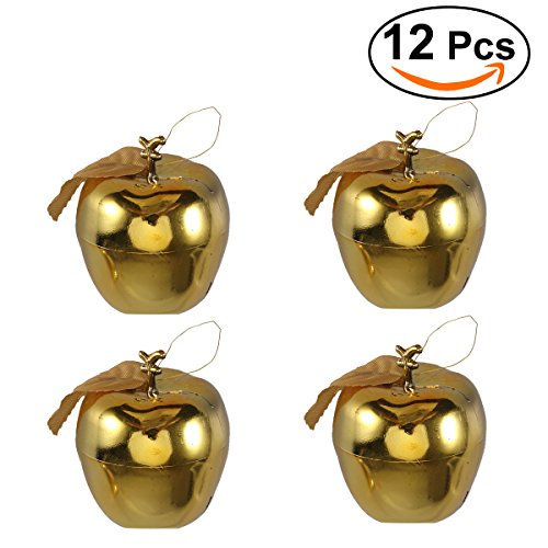 Tinksky Christmas Tree Pendant 6cm Glitter Apple Decoration Ornaments for Festival Hanging Xmas Tree Decor Holiday Wedding Party Decor 12pcs - Apple Tree Christmas Ornaments