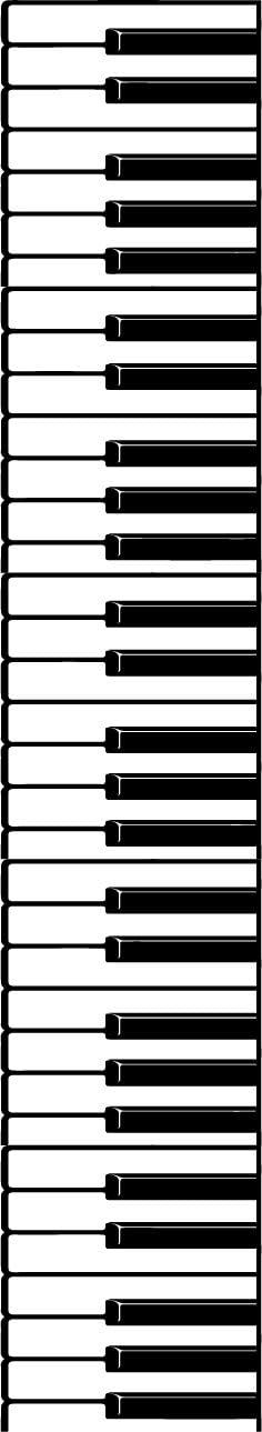 "Vinyl Wall Art Decal - Piano Keys Design - 68"" x 12"" Decoration Vinyl Sticker - Unisex Musician Wall Art Decal - Modern Music Instrument Decal - Indoor Outdoor Stencil Adhesive (68"" x 12"", Black)"