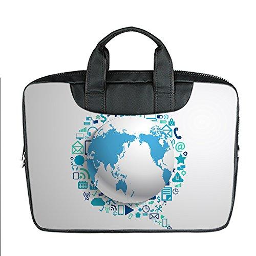 DongMen kundenspezifischer beweglicher wasserdichter Gewebe-Handgriff-Schulter-Kurier-Laptop-Beutel f¨¹r 13 Zoll Macbook Luft B