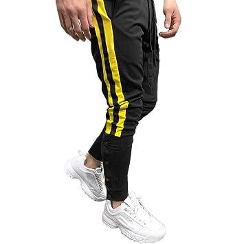 Pantalones de chándal Sueltos Ocasionales de la Aptitud del Deporte de los Hombres de la Moda Que activan Pantalones de Jogging Camuflaje Militar Sonenna ...