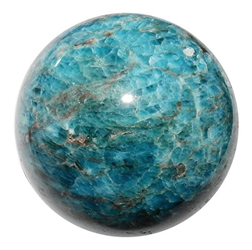 (Apatite Ball 10 Natural High Quality Blue Crystal Sphere Rare Healing Mineral Gemstone 2.2