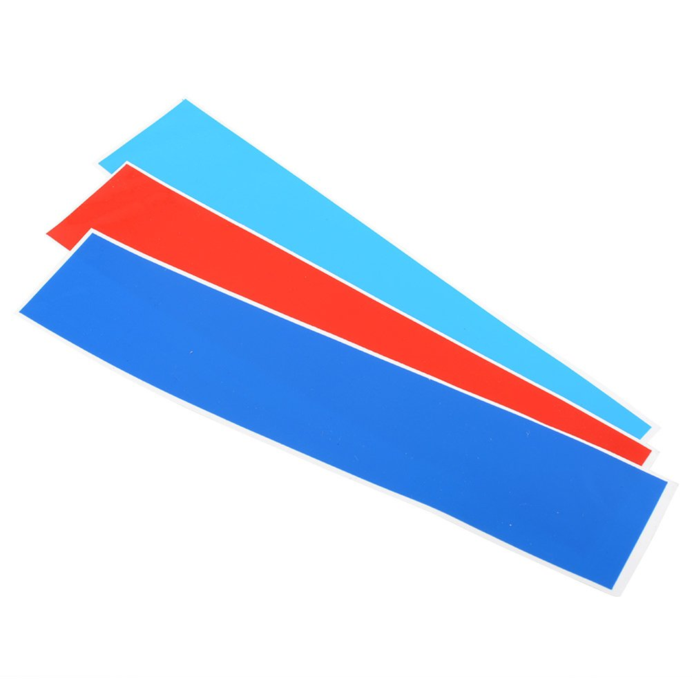 WINOMO pegatinas para rejilla delantera de adhesivo tira para coche 3 colores BMW (Azul Oscuro, Rojo, Azzuro) A8F105850NX72S5353