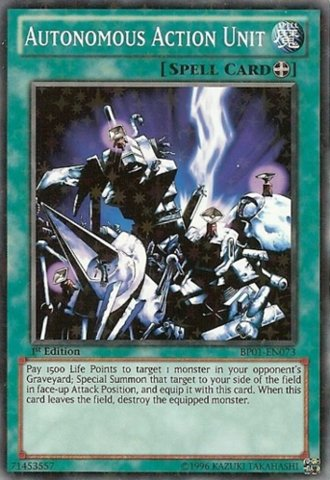 Autonomous Action Unit - Yu-Gi-Oh! - Autonomous Action Unit (BP01-EN073) - Battle Pack: Epic Dawn - 1st Edition - Starfoil Rare