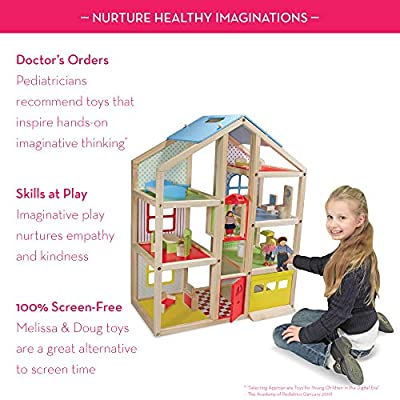 Melissa & Doug Hi-Rise Dollhouse and Furniture Set: Melissa & Doug: Toys & Games
