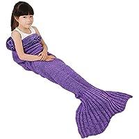ONEPACK Mermaid Tail Crochet Blanket,Handmade Mermaid...