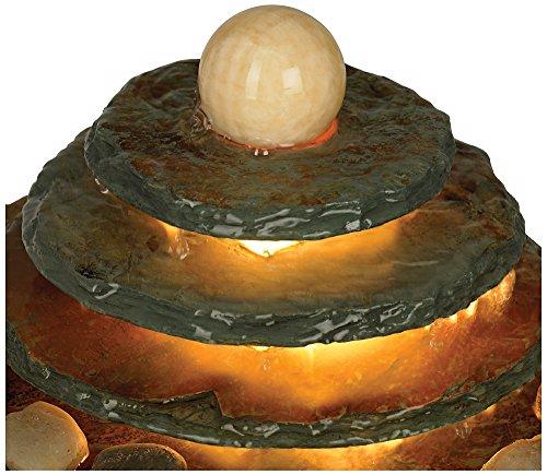 Pyramid Feng Shui Ball Lighted Table Fountain