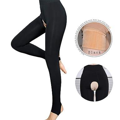 44635996587e9b Amazon.com: MILIAN Women's Winter Warm Thick Crotchless Tights ...