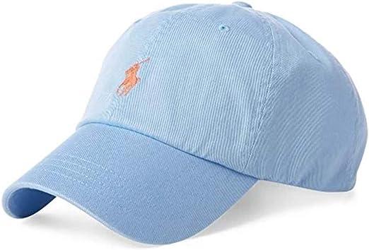 100/% AUTHENTIC MENS DESIGNER POLO RALPH LAUREN CAP BLUE ADJUSTABLE BACK BLUE