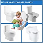 """Gimars Upgrade Large Non Slip Silicone Pads Travel Folding Portable Reusable Toilet Potty Training Seat Covers Liners with Carry Bag for Babies, Toddlers and Kids 11 Upgrade Version 6 pcs Large Nonslip Silicone Pads - Increasing 6 pcs Non Slip padding, not like other suppliers'2 pcs and increase the contact area of friction between the toilet cover and potty training seat, avoiding your babies falling off to the toilet effectively; No Gap to Pinch - Enhance the tightness of joint, more firmly, no gap design solve the problem of pinches bottom. Fits Most standard toilet, helps babies learn how to use toilet bowl in restroom with more confidence when you are out and about Freely switch Foldable To Unfoldable Design - Toilet Seat cover Folds up pretty small size of 7''L x 6''W x 2''H to bring to public restrooms easily and perfect for your children's away-from-home bathroom's needs and compact for """"on the go"""" and traveling; Also can stay Unfoldable 13.5''L x 11 ''W x 1''H, Perfect for every baby potty training everyday use at home"""