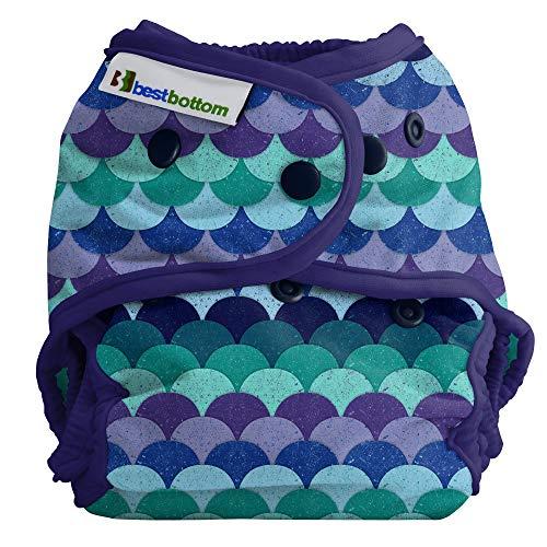 Best Bottom Cloth Diaper Shell-Snap, Mermaid Tail