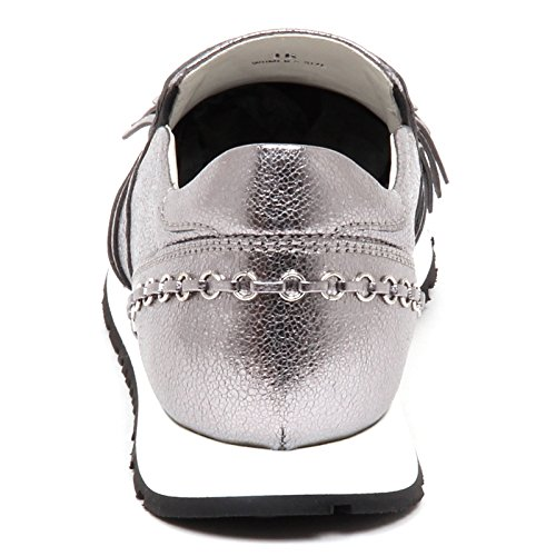 Tod's E5168 Slip Platino Cracked Crepato Platinum Sneaker Woman On Effect Shoe Donna 4BqxrAw4