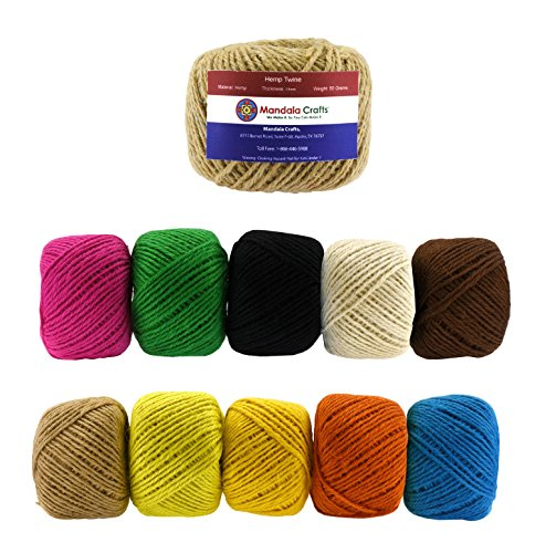 Mandala-Crafts-15mm-Hemp-Twine-Macrame-Cord-Hemp-String-Rope-50-Grams-52-Meters