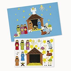 Amazon make a nativity sticker sets 1 dz toys games make a nativity sticker sets 1 dz solutioingenieria Choice Image