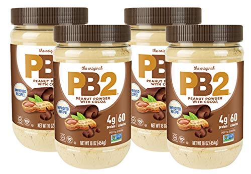 (Bell Plantation PB2 Powdered Peanut Butter with Chocolate, 1 Pound (4-Pack))