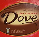 Dove Dark Chocolate Bars Silky Smooth 18 Count of