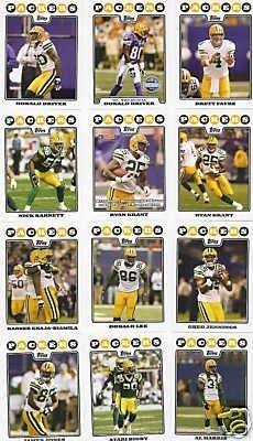 Green Bay Packers Football Cards - 5 Years Of Topps Complete Team Sets 2007,2008,2009,2010,2011 - Includes Stars like Brett Favre, Rookies & More - Individually Packaged!
