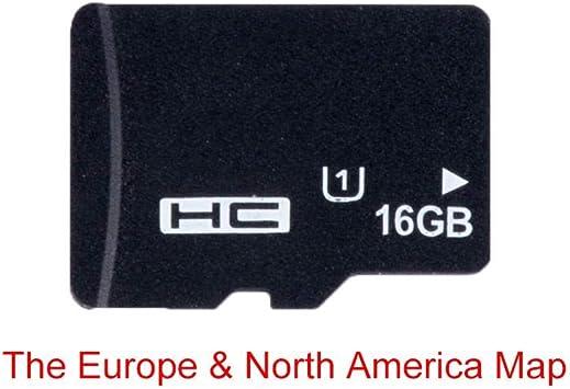 Tarjeta de navegación de mapas GPS 16G para Micro SD Clase 10 TF el mapa más