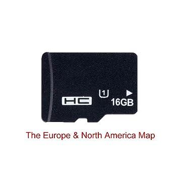 Tarjeta de navegación de mapas GPS 16G para Micro SD Clase 10 TF el mapa más reciente para WinCE Car DVD Player Navigation Rusia España España España ...